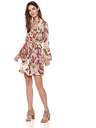 d348d059b9b Bcbgmaxazria BCBGMax Azria Womens Paisley Long Sleeve Wrap Dress
