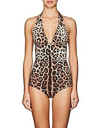 Dolce   Gabbana Womens Leopard-Print Halter One-Piece Swimsuit - Leopard  Size 3 5d1f4d270f6