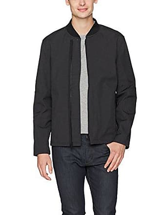 Kenneth Cole Mens Bonded Bomber, Black Large