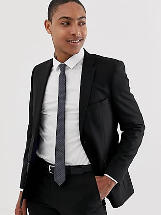 Burton Menswear skinny suit jacket in black