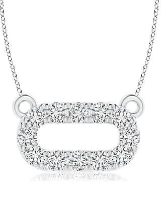 Angara Valentine Day Sale - Pave-Set Diamond Oval Necklace