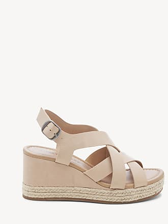 Lucky Brand Womens Baymeer Platform Wedges Stone/natural Size 12 Leather From Sole Society