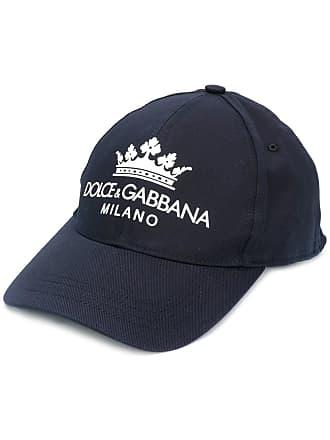 Dolce & Gabbana embroidered logo baseball cap - Azul