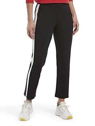 Hue Womens Trouser Style Cropped Legging Treggings, Tux ponte/black, XL