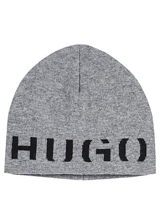 cdf7f948b6268b HUGO BOSS Hugo Boss Logo beanie hat in a technical cashmere One Size Open  Grey