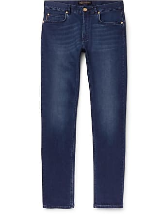 Versace Slim-fit Stretch-denim Jeans - Blue de08a895e36bc