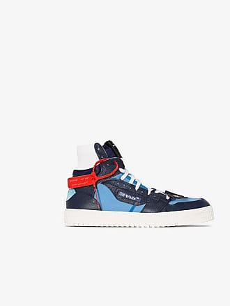 Off-white blue Court leather high top sneakers