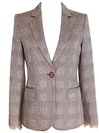 6f72bb30dbc Gianfranco Ferre 1990s Gianfranco Ferre Brown Beige Wool Silk Jacket