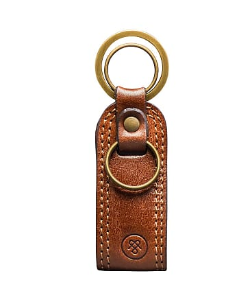 Maxwell Scott Maxwell Scott - Luxury Tan Leather Key Ring