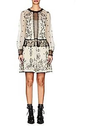 0683fa18d7ec98 Alberta Ferretti Womens Floral-Lace-Embellished Mesh Minidress - White Size  38 IT