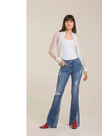 Lebôh Calça Boot Cut Gigi Cos Intermediario Abertura Barra Jeans 38