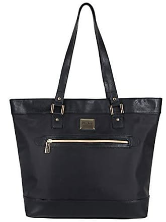 Kenneth Cole Reaction Kenneth Cole Reaction Womens Runway Call Nylon-Twill Top Zip 16 Laptop & Tablet Business Tote, Black