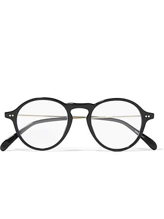 Givenchy Round-frame Gold-tone And Acetate Optical Glasses - Black