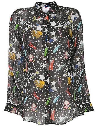 Ultra Chic star print shirt - Black
