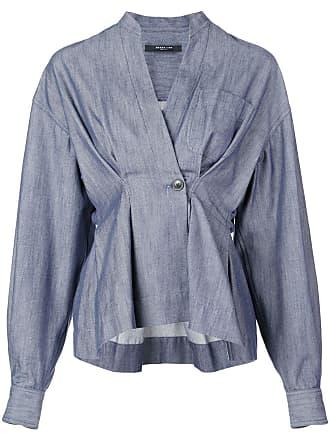 Derek Lam Indigo Twill Wrap Shirt Jacket - Blue