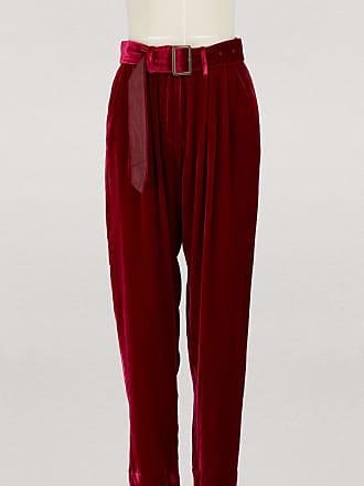 Forte_Forte Pleated velvet pants