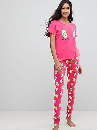 cffde7c2f1 Asos Tall Avocado and Egg Power Couple Tee and Legging Pyjama Set