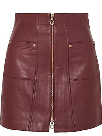 6e915892f39 Alice McCall Mini-jupe En Cuir Make Me Yours - Bordeaux