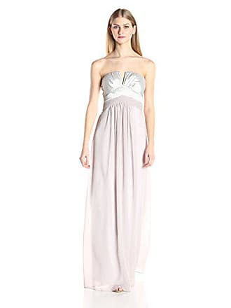 Minuet Womens Strapless V Front Gown, Silver, Large