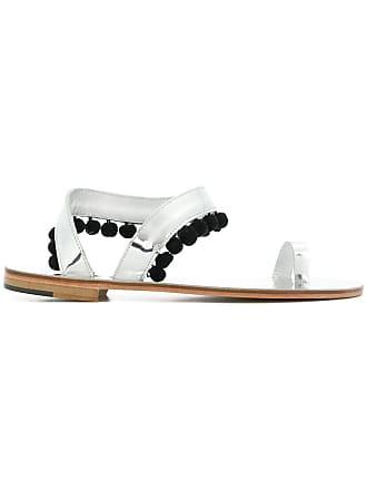 ÁLVARO GONZÁLEZ pom pom sandals - Metallic