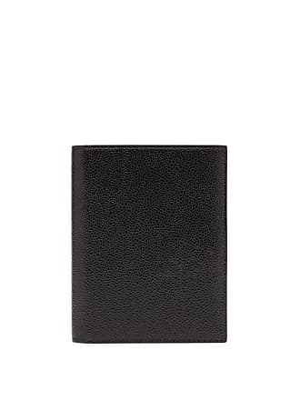 Thom Browne Pebbled Leather Passport Holder - Mens - Black
