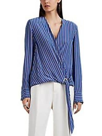e3443febce933 Rag   Bone Womens Felix Striped Silk Wrap Blouse Size L