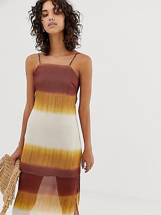 192ca00aa7d Stradivarius square neck cami dress in tie dye