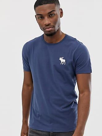 ddecbdf7 Abercrombie & Fitch exploded icon logo crew neck t-shirt in indigo