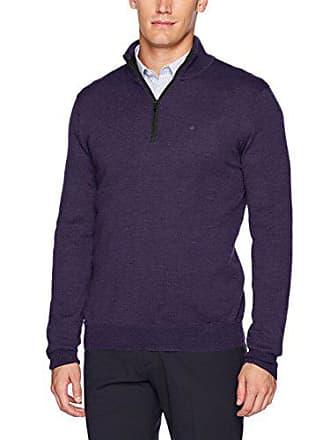 809d8dcf58130 Calvin Klein Mens Merino Quarter Zip Sweater
