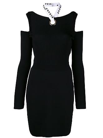 32a3b52fc8c8 Versus open shoulder fitted dress - Black
