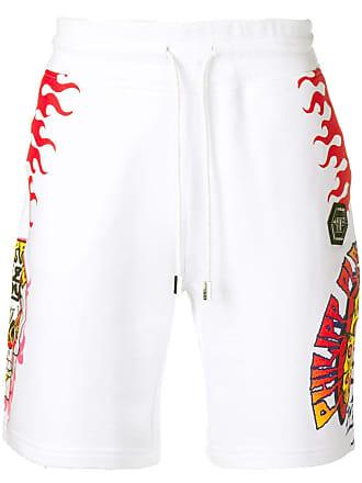 Philipp Plein Pizza Boy shorts - White