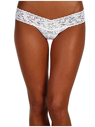 70db1873f37fe Hanky Panky Mrs. Low Rise Bridal Thong (White Blue) Womens Underwear