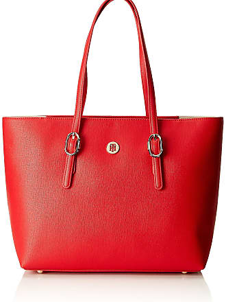 e4cd5d4ebe2 Tommy Hilfiger Th Buckle Tote, Womens Shoulder Bag, Red (Tommy Red),