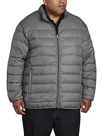 Amazon Essentials Mens Big & Tall Lightweight Water-Resistant Packable Puffer Jacket, Gray, 2X