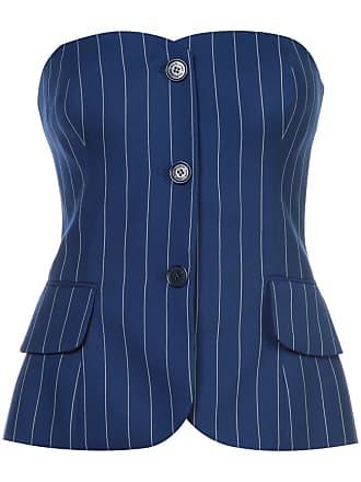 2140c22475 Ralph Lauren Collection pinstripe corset top - Blue