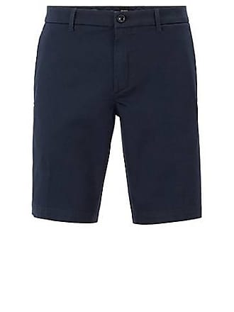 36ebf3be BOSS Slim-fit shorts in satin-touch stretch fabric