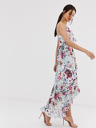 d28393cf0e5 Little Mistress asymmetric ruffle maxi dress in floral print - Multi