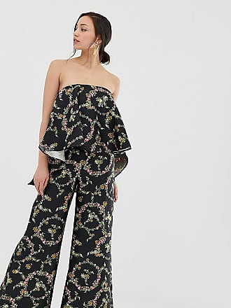 c9ae41025a2 Asos Tall ASOS DESIGN Tall jumpsuit with structured overlay in floral print