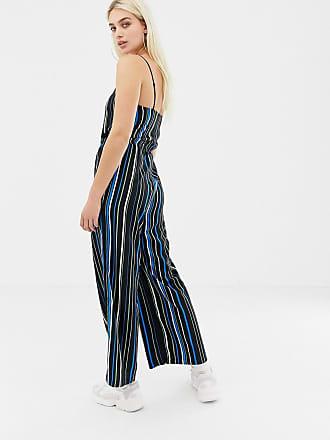 65803dee670e Noisy May stripe wide leg cami jumpsuit - Multi