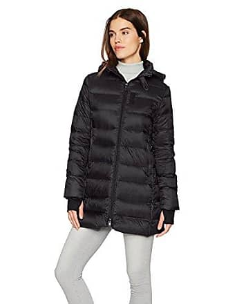 William Rast Womens Packable Down Parka, Black, L