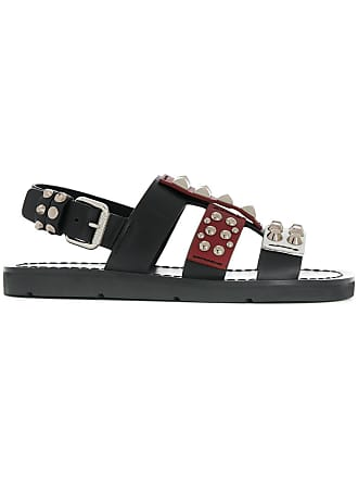 Noir de clous sandales détails à Prada 4TaSwq1W