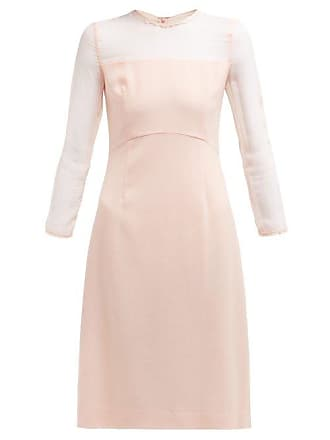 72feaaaab1 Goat Flavia Wool Crepe Midi Dress - Womens - Light Pink