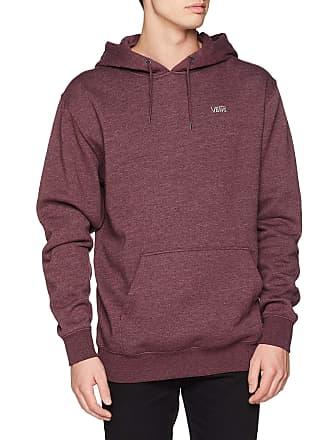 137b8d792c98 Vans Apparel Menss Basic Pullover Fleece Hoodie Red (Port Royale Heather  9A8) X-