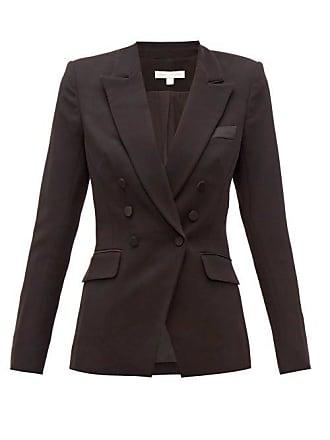 Jonathan Simkhai Double Breasted Crepe Jacket - Womens - Black
