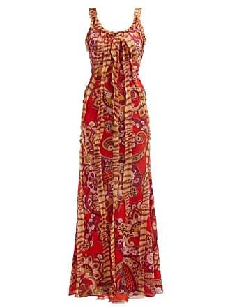 3f955f2d168 Etro Robe longue en mousseline de soie à imprimé floral