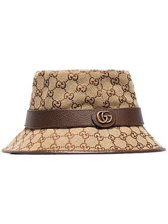 3a6ccee5b Gucci GG Supreme fedora bucket hat - Brown