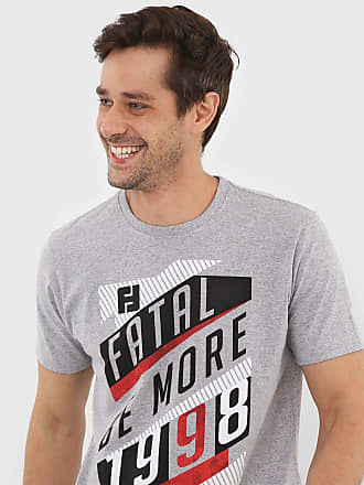 Fatal Surf Camiseta Fatal Lettering Cinza