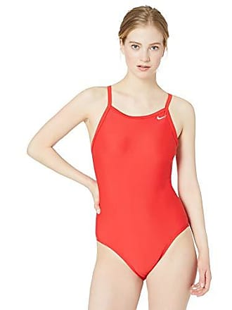 552256ff855c3 Nike Swim Womens Solid Racerback One Piece Swimsuit, University Red, 38