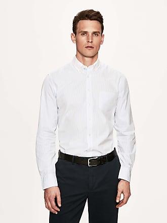 Henley Royal Regatta Mens Striped Cotton Shirt | Medium | Sky/White