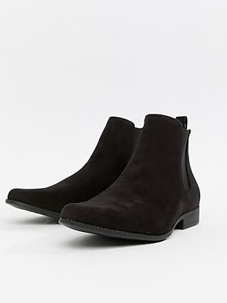 4268a74fe373 Asos Wide Fit chelsea boots in black faux suede - Black